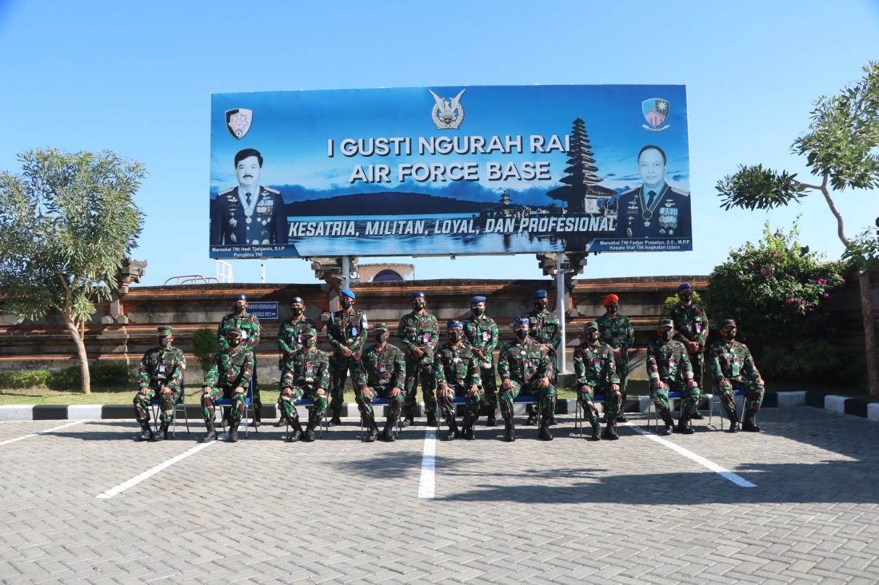 Kunjungan Kerja Pangkoopsau II di Lanud I Gusti Ngurah Rai